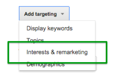 adwords affinity and in-market audiences