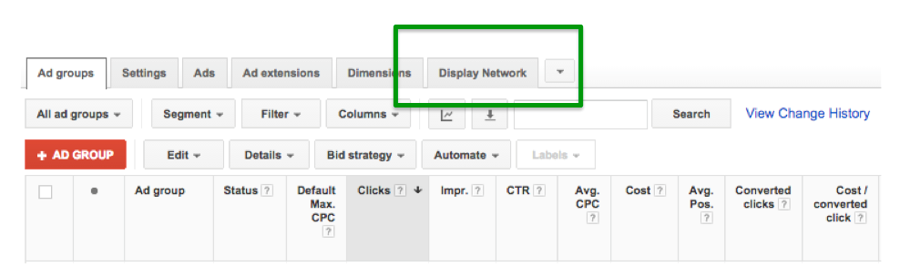 adwords affinity audiences