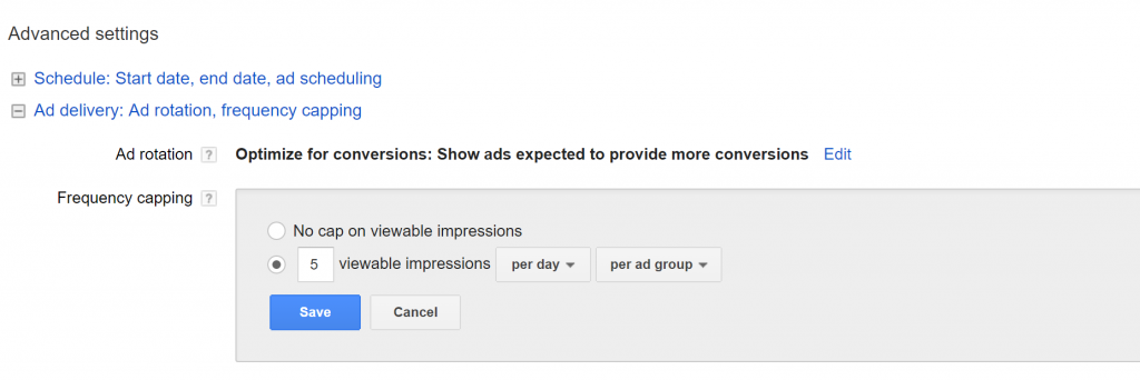 Frequency Capping in Adwords Remarketing