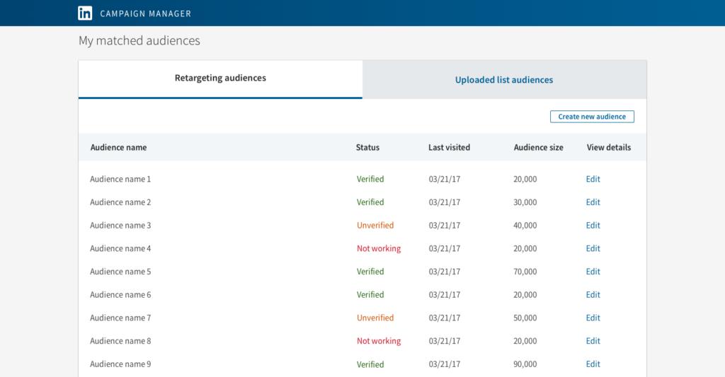 LinkedIn Website Retargeting