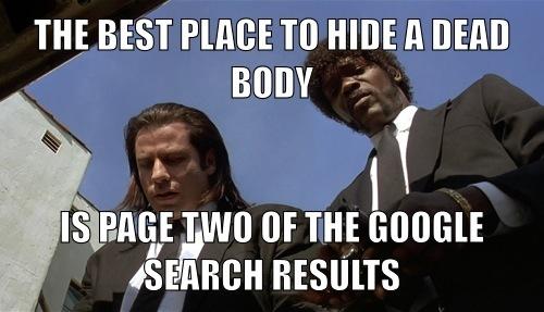 google page 2 meme