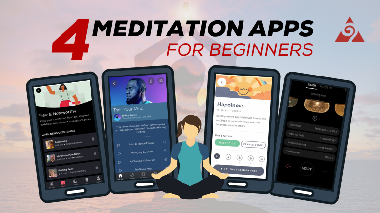 four meditation apps