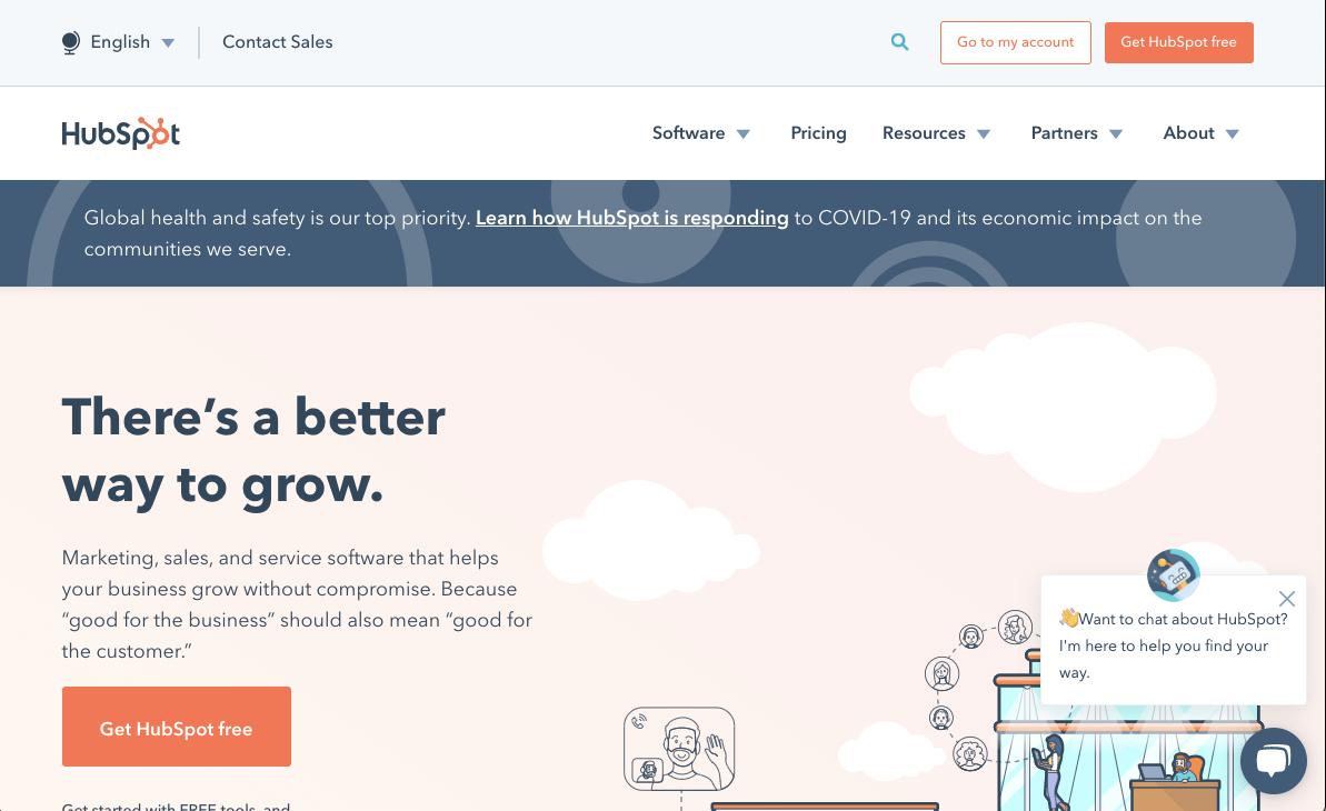 Screenshot of Hubspot Content Marketing Tool