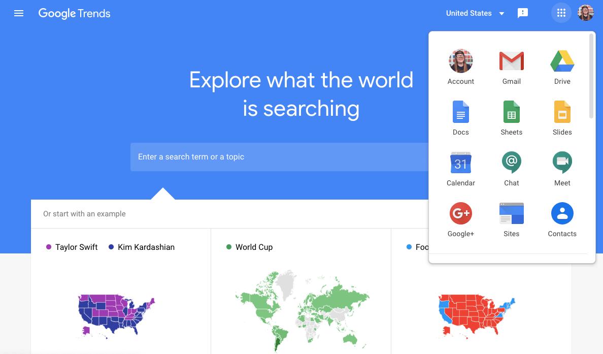 Screenshot of Google Content Marketing Tool