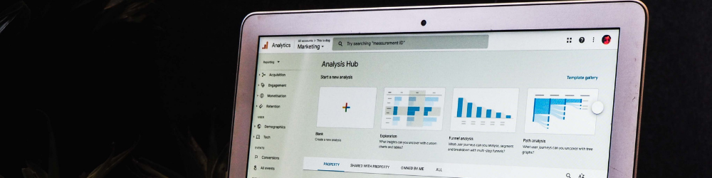 Image of analytics on a computer screen